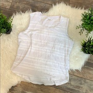 EUC Madewell Muscle Tank - white, striped sz med